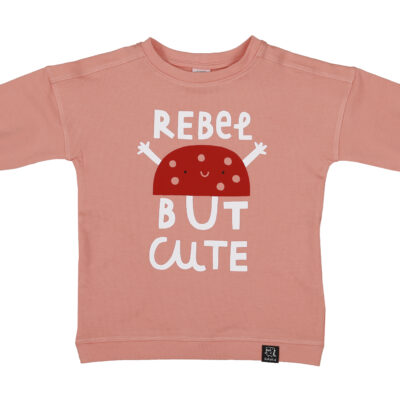 KUKUKID taskutega dressipluus-kleit, peach rebel but cute