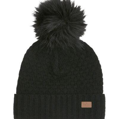 Melton villane tutimüts, must