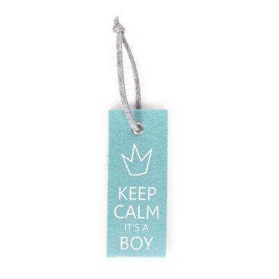 Vildist mint blue uksesilt KEEP CALM BOY