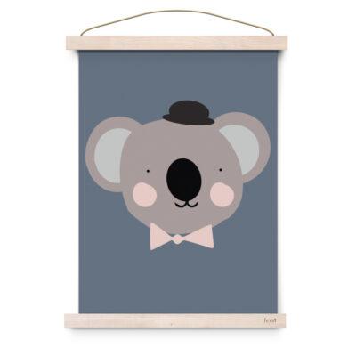 EEF Lillemor Poster Lovely Animals – Sir Koala 29.7x42