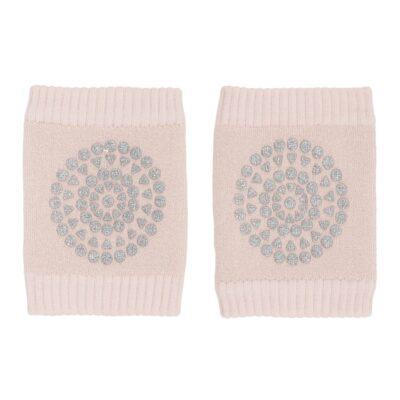 GOBABYGO stopperitega põlvekaitsmed - Soft Pink Glitter