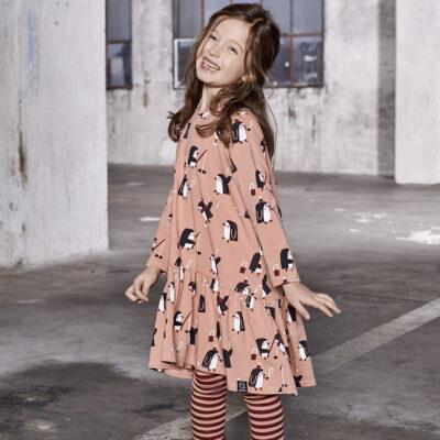 KUKUKID Dancing kleit, Pink Penguin