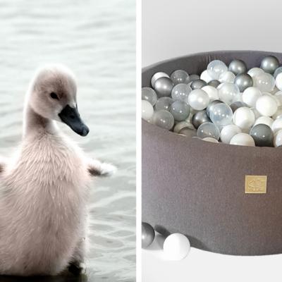 MEOW baby pehme pallimeri Little Swan, 250 palliga