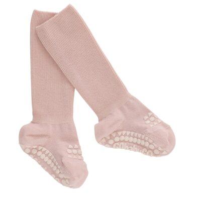 GOBABYGO stopperitega bambusest sokid - Soft Pink Glitter