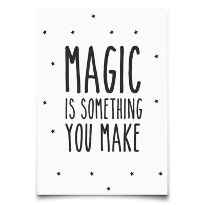 EEF Lillemor Postkaart Magic is Something you make
