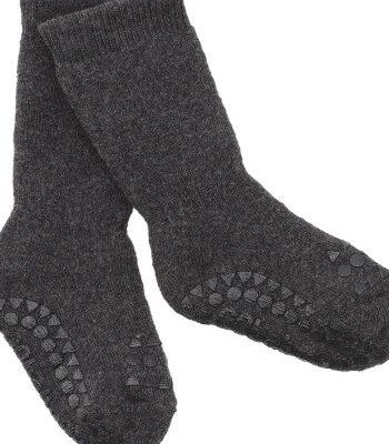 GOBABYGO stopperitega sokid - Dark Grey Melange
