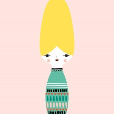 Postkaart Miss Beehive