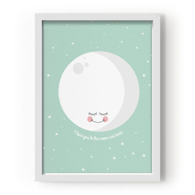 EEF Lillemor Poster I Love You To The Moon And Back - Mint 29.7x42