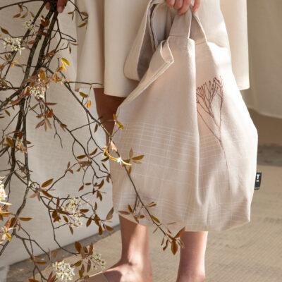 Tinne +Mia Baya linane Tote bag. Eucalyptus