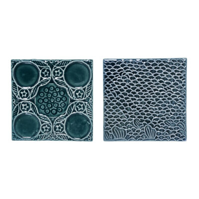 Dekoratiivsed keraamilised plaadid, roheline